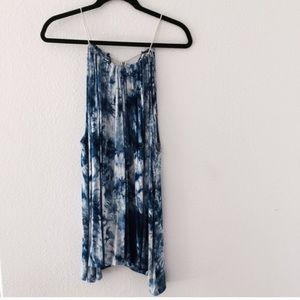 Blue tie die sabo dress